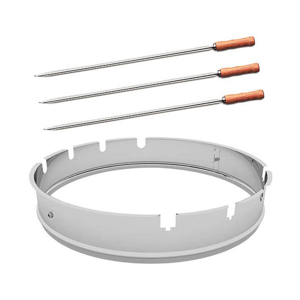 Tramontina Round BBQ Skewer Support & Skewers Set