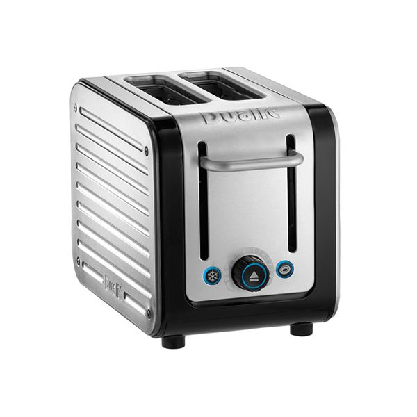Dualit Architect 2 Slot Black Body With Stainless Steel Panel Toaster