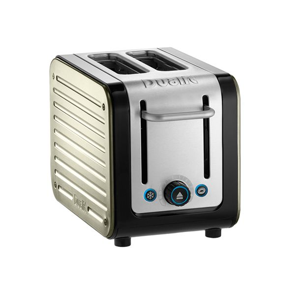Dualit Architect 2 Slot Black Body With Canvas White Panel Toaster