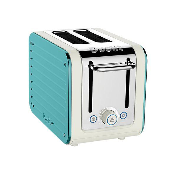 Dualit Architect 2 Slot Canvas Body With Azure Blue Panel Toaster