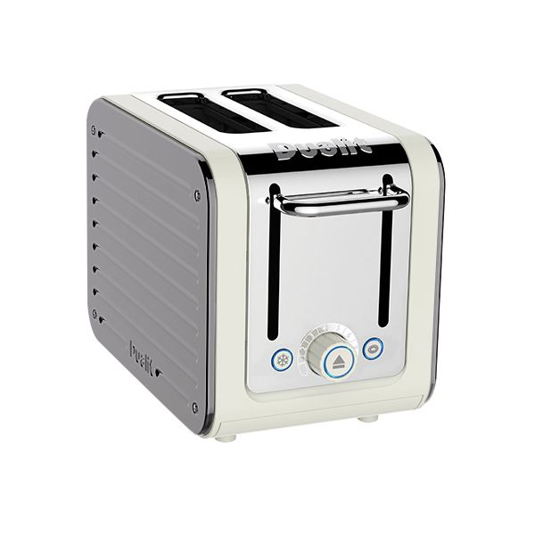 Dualit Architect 2 Slot Canvas Body With Metallic Silver Panel Toaster