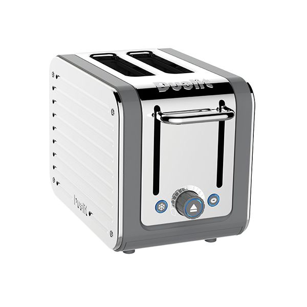 Dualit Architect 2 Slot Grey Body With Stainless Steel Panel Toaster
