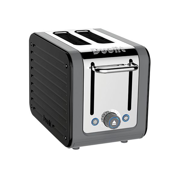 Dualit Architect 2 Slot Grey Body With Gloss Black Panel Toaster