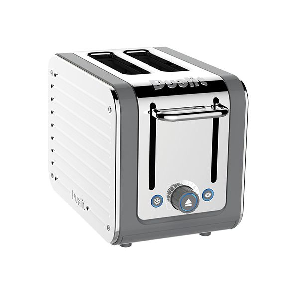 Dualit Architect 2 Slot Grey Body With White Panel Toaster