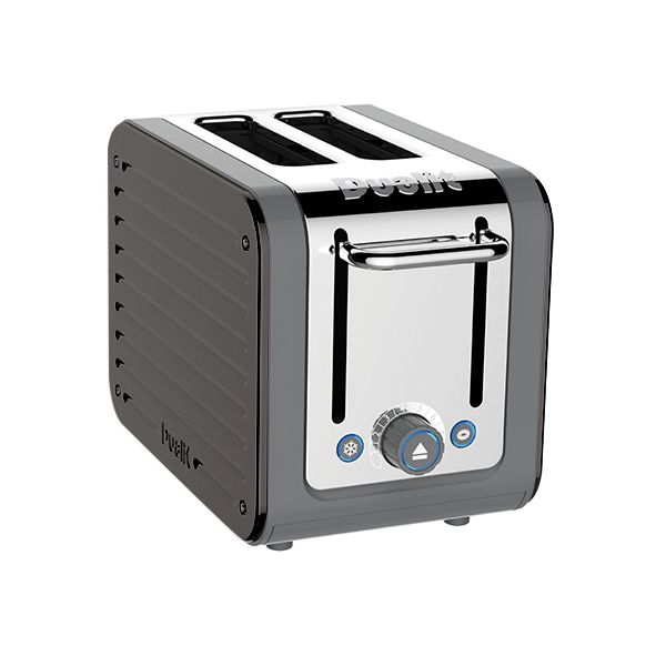 Dualit Architect 2 Slot Grey Body With Cobble Grey Panel Toaster
