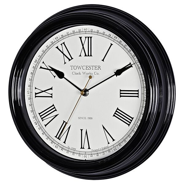 Acctim Redbourn Wall Clock Black