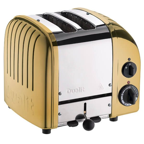 Dualit Classic Vario AWS Brass 2 Slot Toaster with FREE Gift
