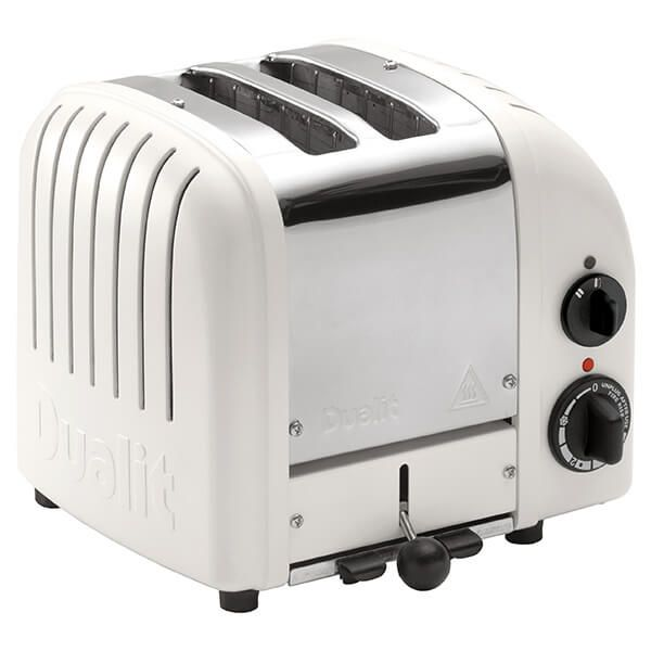 Dualit Classic Vario AWS Matte Porcelain 2 Slot Toaster With Free Gift