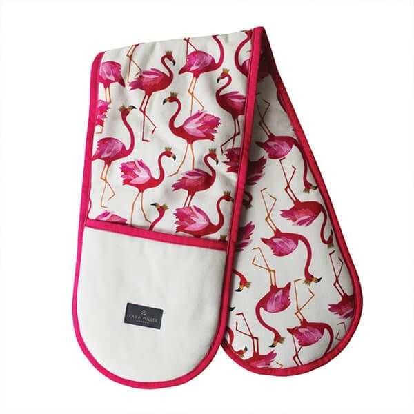 Sara Miller Flamingo Repeat Double Oven Glove