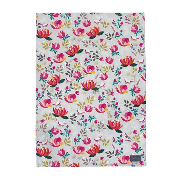 Sara Miller Peony Repeat Tea Towel