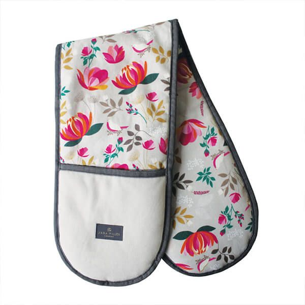 Sara Miller Peony Repeat Double Oven Glove