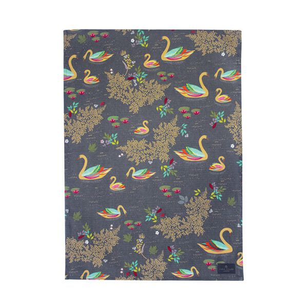 Sara Miller Swan Repeat Tea Towel