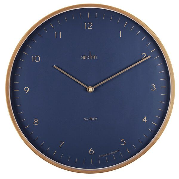 Acctim Madison Wall Clock Brushed Brass/Midnight
