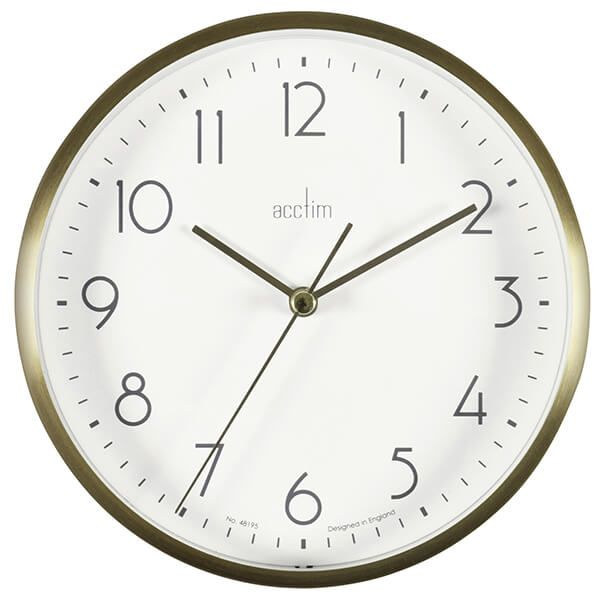 Acctim Ava Wall Clock Gold