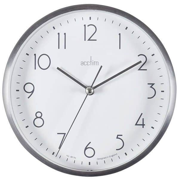 Acctim Ava Wall Clock Silver