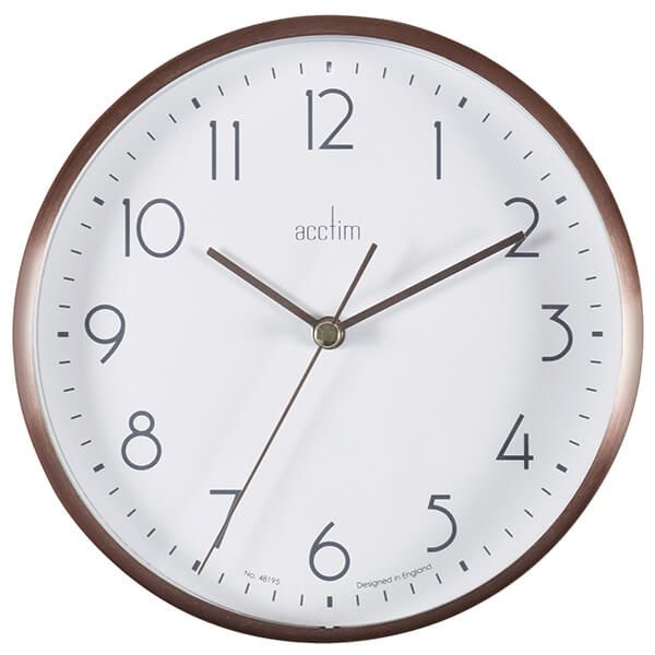 Acctim Ava Wall Clock Copper