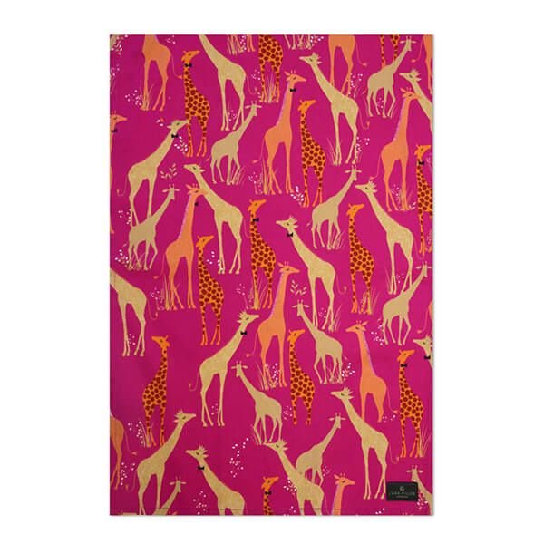 Sara Miller Giraffe Repeat Tea Towel