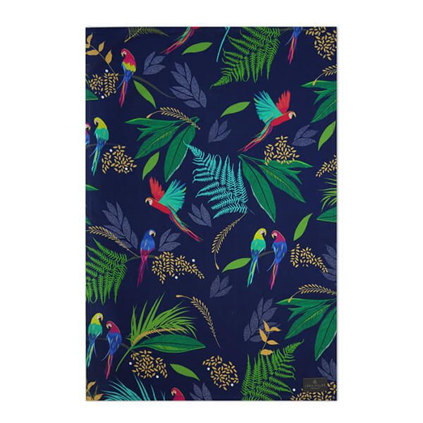 Sara Miller Parrot Repeat Tea Towel