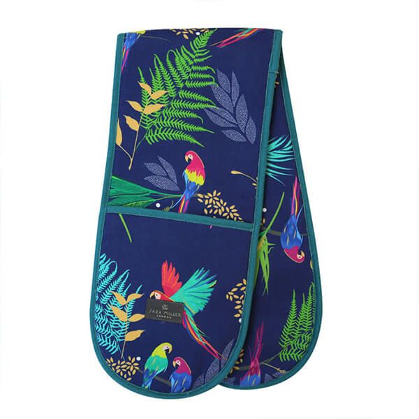 Sara Miller Parrot Repeat Double Oven Glove