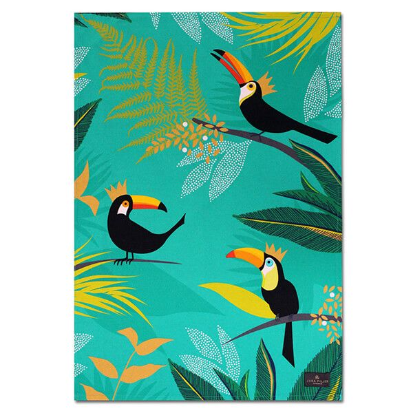 Sara Miller Toucan Placement Tea Towel
