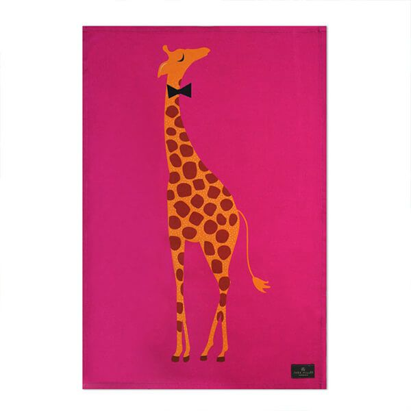 Sara Miller Giraffe Placement Tea Towel