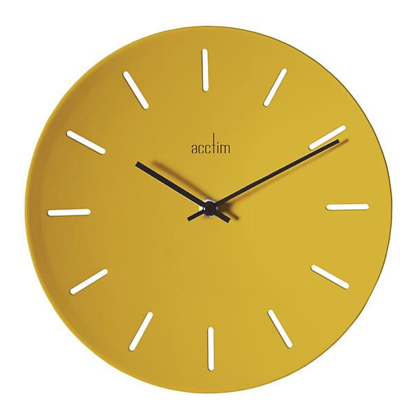 Acctim Majken Wall Clock Mustard