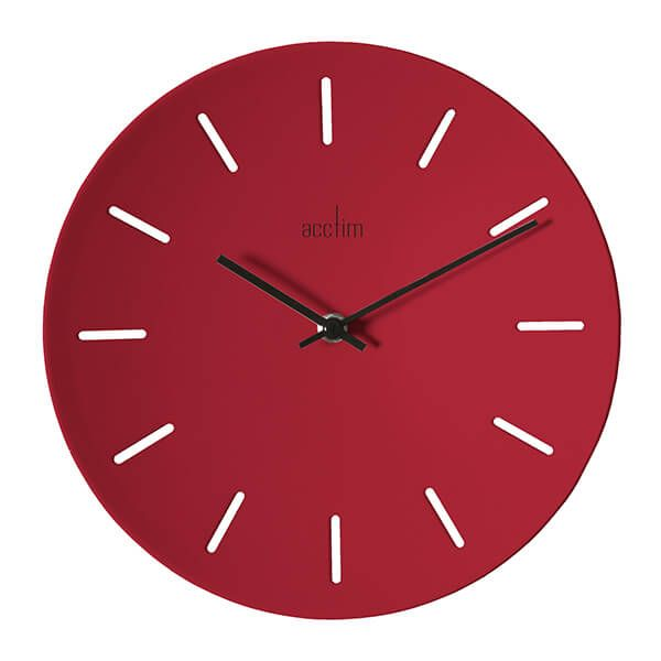 Acctim Majken Wall Clock Red