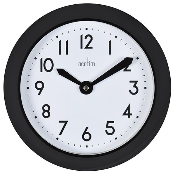 Acctim Wixham Wall Clock Black