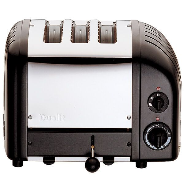 Dualit Classic Vario AWS Black 3 Slot Toaster with FREE Gift