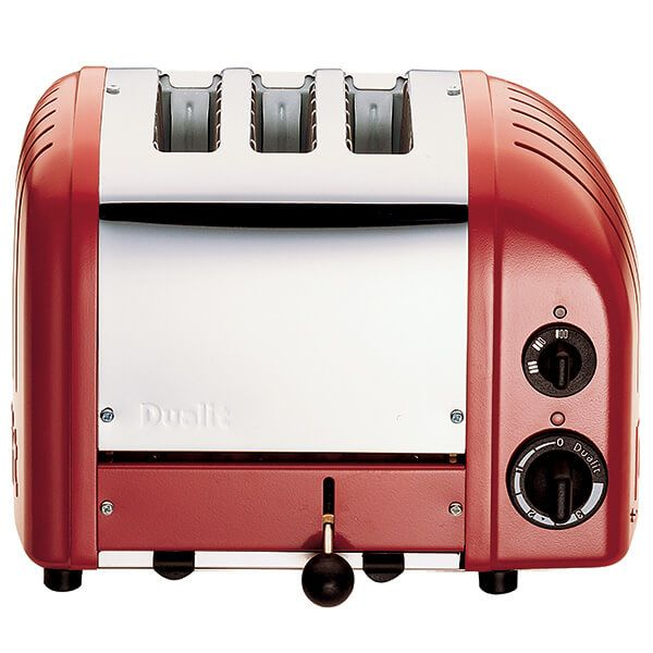 Dualit Classic Vario AWS Red 3 Slot Toaster with FREE Gift