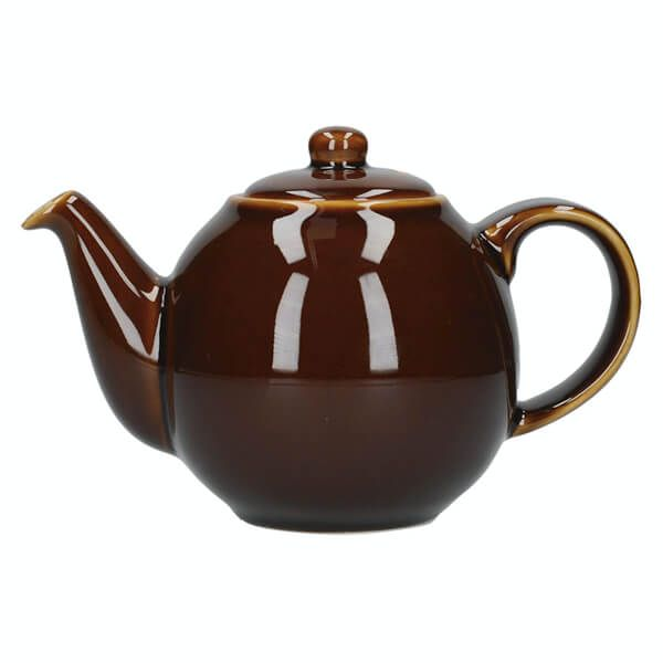 London Pottery Globe 6 Cup Teapot Rockingham Brown