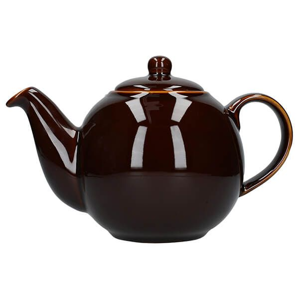 London Pottery Globe 6 Cup Teapot Rockingham Brown