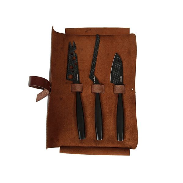 Boska Monaco Cheese Knife Set, Black
