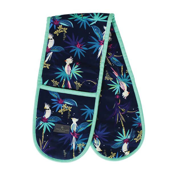 Sara Miller Tahiti Cockatoo Blue Double Oven Glove