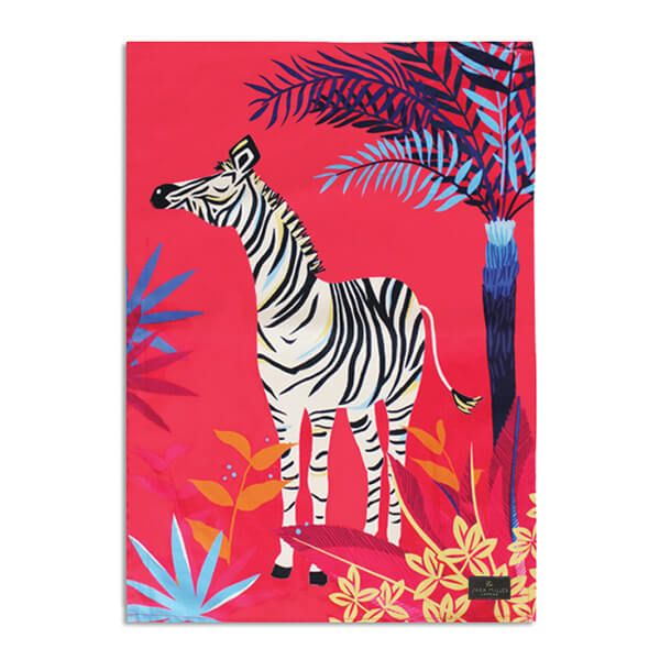 Sara Miller Tahiti Zebra Placement Tea Towel