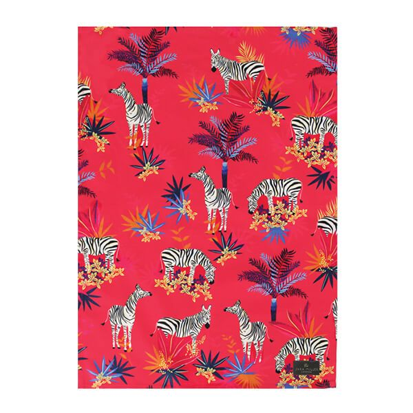 Sara Miller Tahiti Zebra Repeat Tea Towel