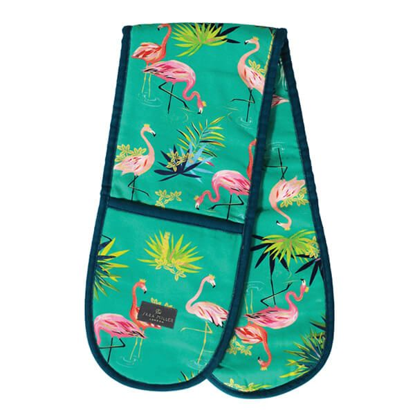 Sara Miller Tahiti Flamingo Placement Double Oven Glove
