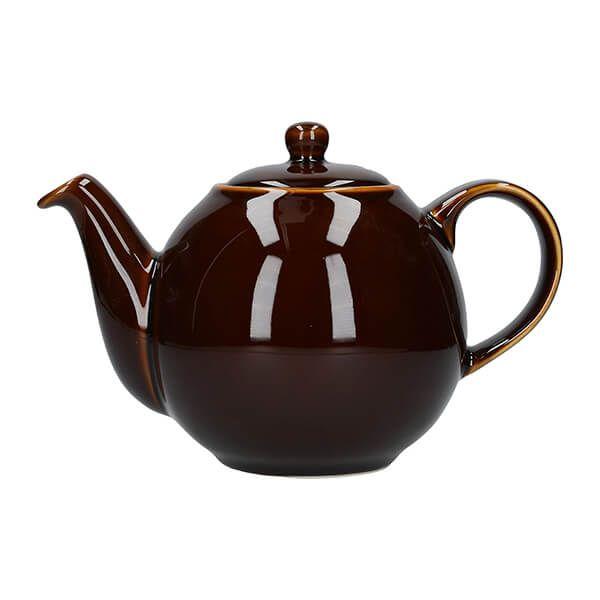 London Pottery Globe 4 Cup Teapot Rockingham Brown
