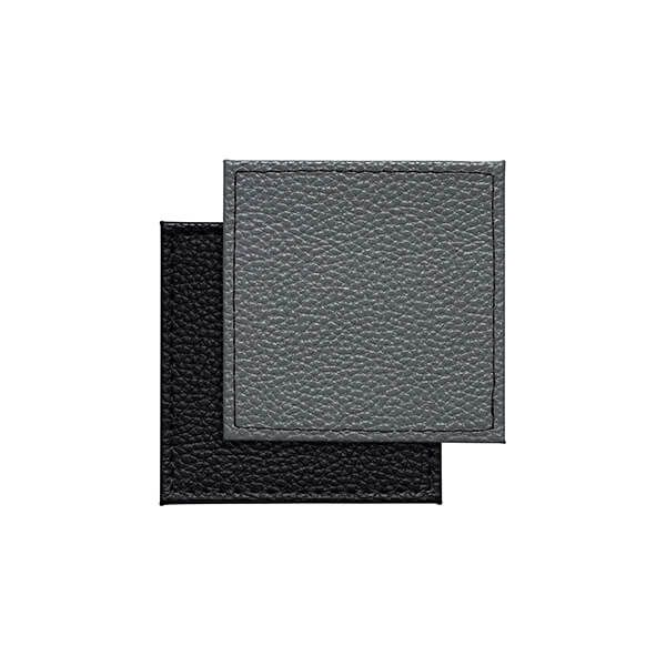 Denby Set Of 4 Black Grey Reversible Faux Leather Coasters