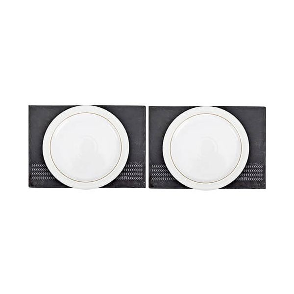 Denby Natural Canvas Set Of 2 Slate Placemats