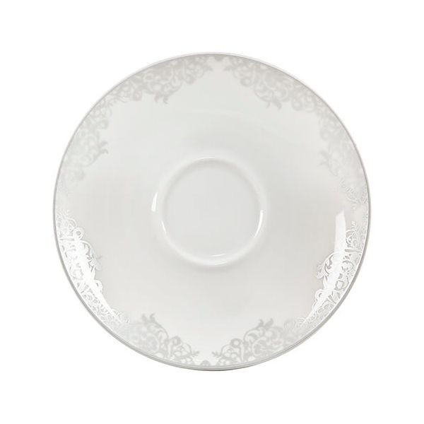 Denby Monsoon Filigree Silver Tea / Coffee Saucer