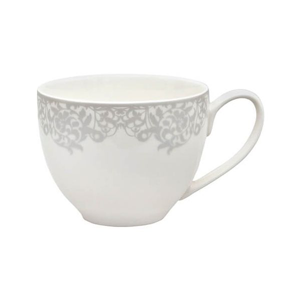 Denby Monsoon Filigree Silver Tea / Coffee Cup