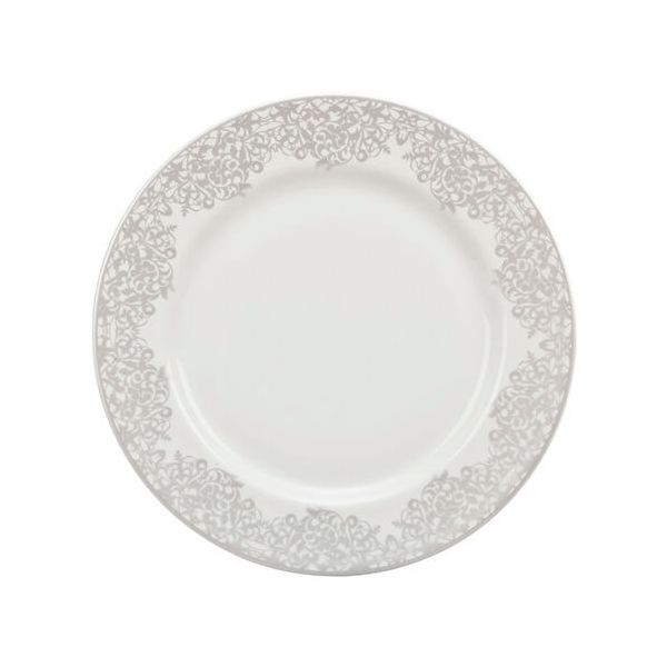 Denby Monsoon Filigree Silver Medium Plate