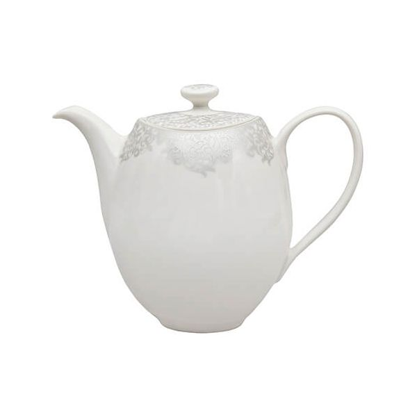 Denby Monsoon Filigree Silver Teapot