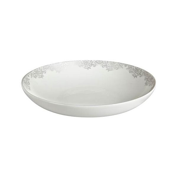 Denby Monsoon Filigree Silver Pasta Bowl