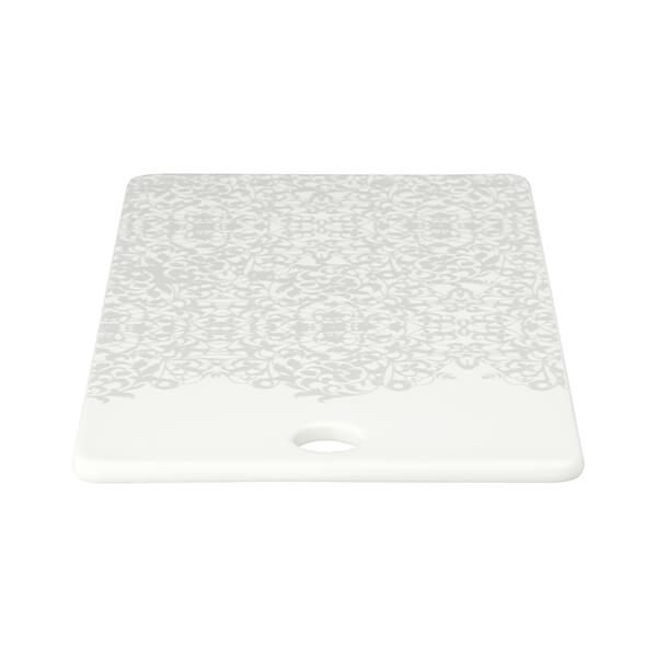 Denby Monsoon Filigree Silver Ceramic Platter