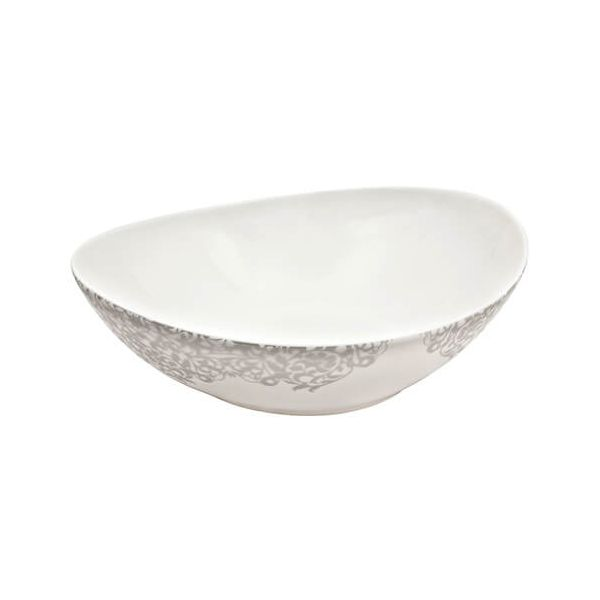 Denby Monsoon Filigree Silver Serving Bowl