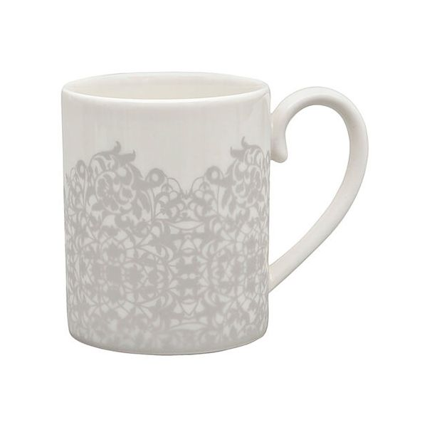 Denby Monsoon Filigree Silver Small Mug