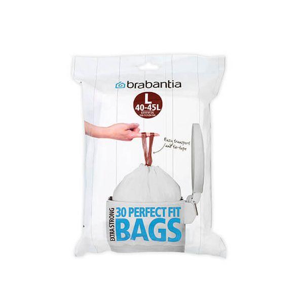 Brabantia Perfectfit Bags Size L 45 Litre 30 Bag Dispenser Pack