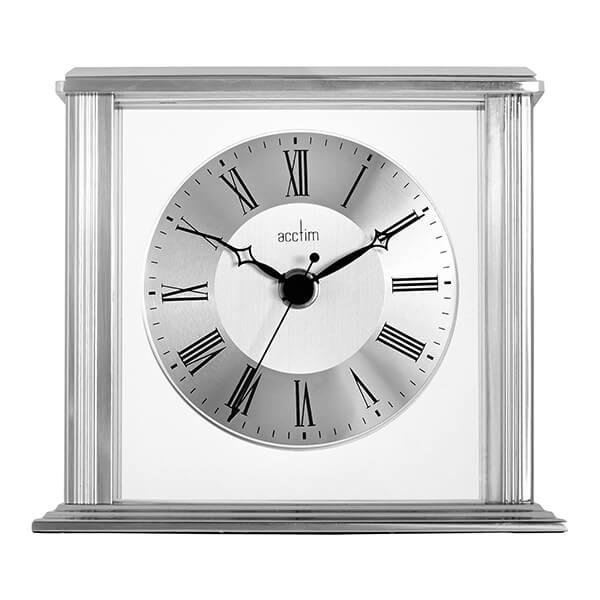 Acctim Hamilton Mantel Clock Silver Effect